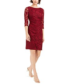 Petite Stretch-Lace Sheath Dress