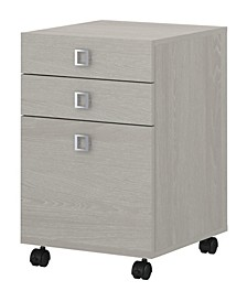 Echo 3 Drawer Mobile File Cabinet - Assembled