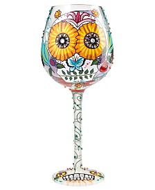 Enesco Lolita Wine Glass Bling Sugar Skulls