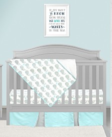 Pam Grace Creations Whale 3 Piece Crib Bedding Set