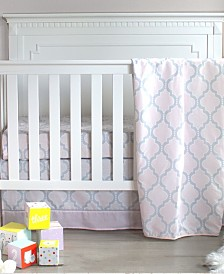 Pam Grace Creations Pretty in Trellis 3 Piece Crib Bedding Set