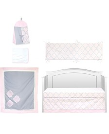 Pam Grace Creations Pretty in Trellis 6 Piece Crib Bedding Set