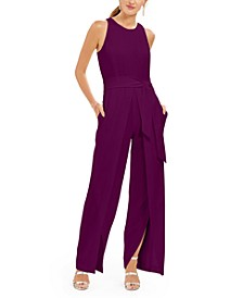 INC Belted Flyaway-Leg Jumpsuit, Created For Macy's