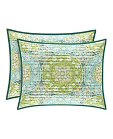 Avalon Green Standard Quilted Sham