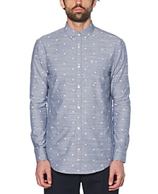 Men's Chambray Football Graphic Shirt