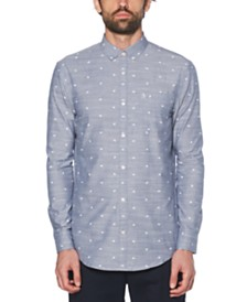 Original Penguin Men's Chambray Football Graphic Shirt
