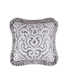 """J Queen Luxembourg 20"""" Square Decorative Throw Pillow"""