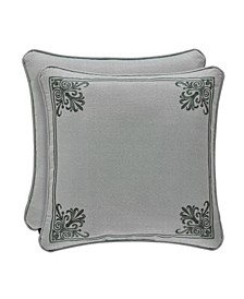 "J Queen Sorrento 18"" Square Decorative Throw Pillow"