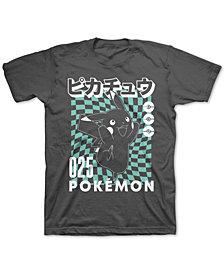 Pokémon Big Boys Pikachu Checker T-Shirt