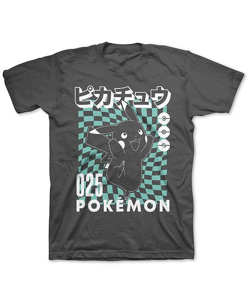 Pokemon Pokémon Big Boys Pikachu Checker T-Shirt