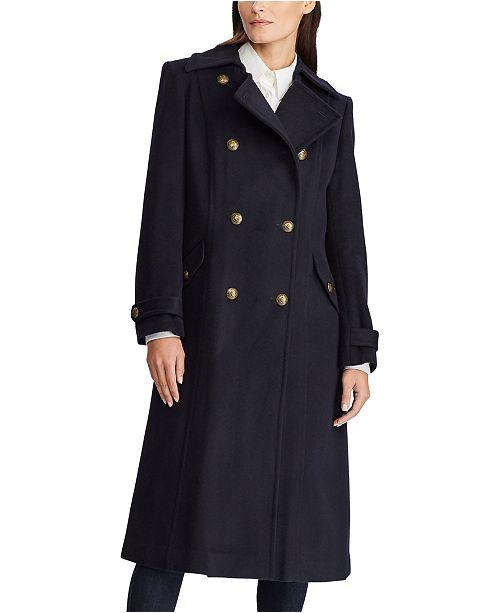 Lauren Ralph Lauren Double-Breasted Military Maxi Coat