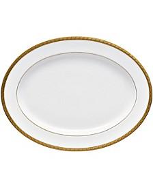 """Charlotta Gold 14"""" Oval Platter"""