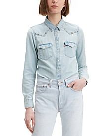 Women's Ultimate Western Embellished Denim Shirt