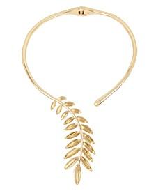 Sculptural Leaf Hinged Collar Necklace