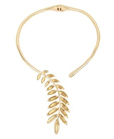 Robert Lee Morris Soho Sculptural Leaf Hinged Collar Necklace