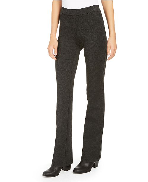 Style & Co Petite Heathered Ponte Pants, Created For Macy's