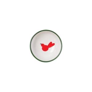 Vietri Uccello Rosso Olive Oil Bowl