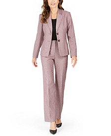 Petites 2-Button Pants Suit