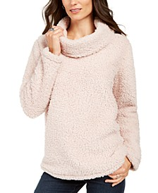 Sherpa Cowl-Neck Sweater, Created For Macy's