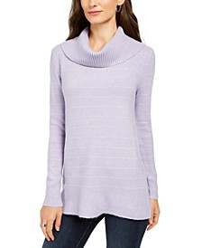 Lurex Cowl-Neck Sweater, Created For Macy's