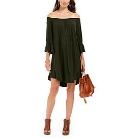 Style & Co Off-The-Shoulder Ruffled Dress, Created For Macy's