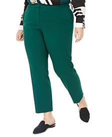 Plus Size Stretch Trousers, Created for Macy's