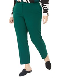 Bar III Plus Size Stretch Trousers, Created for Macy's