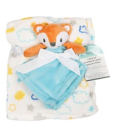 Baby's First by Nemcor 2-Piece Blanket Buddy Set, Blue Fox