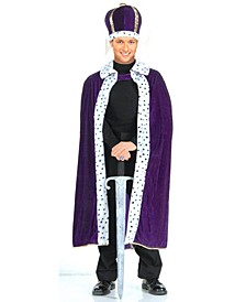 Buy Seasons Men's King Robe and Crown Costume Kit