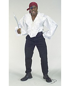 Buy Seasons Men's Satin Pirate Shirt Costume