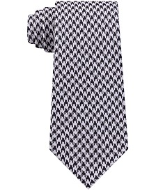 Calvin Klein Men's Jewel Slim Houndstooth Tie