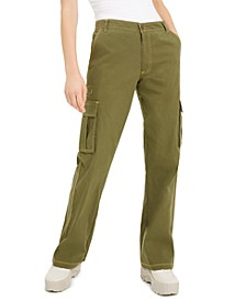 Juniors' Twill Cargo Pants