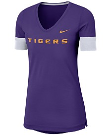 Nike Women's LSU Tigers Fan V-Neck T-Shirt