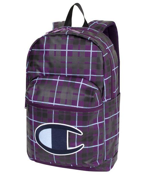 Champion Men's Supercize Plaid Backpack