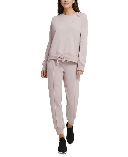DKNY Sport Tie-Hem Sweatshirt