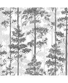 "Engblad Co 21"" x 396"" Pine Silhouette Trees Wallpaper"