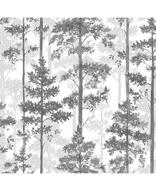 """Engblad & Co Engblad Co 21"""" x 396"""" Pine Silhouette Trees Wallpaper"""
