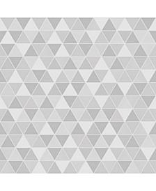 "Engblad Co 21"" x 396"" Triangular Light Geometric Wallpaper"