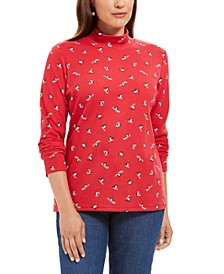 Skiing Penguins Printed Mock-Neck Top, Created for Macy's