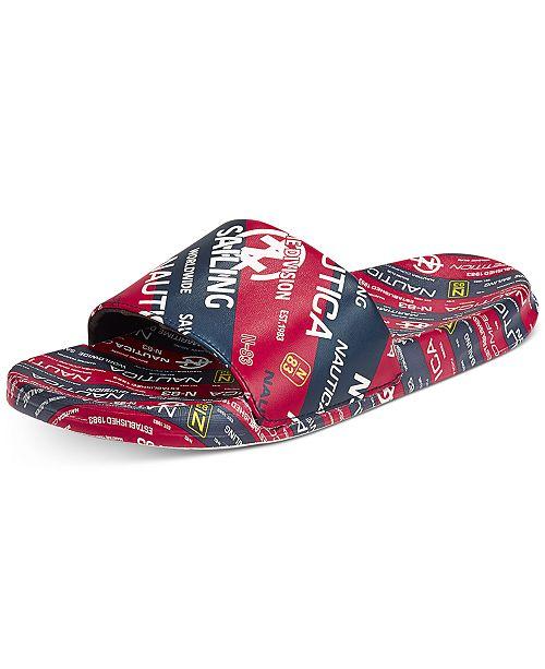 Nautica Men's Logo Slide Sandals