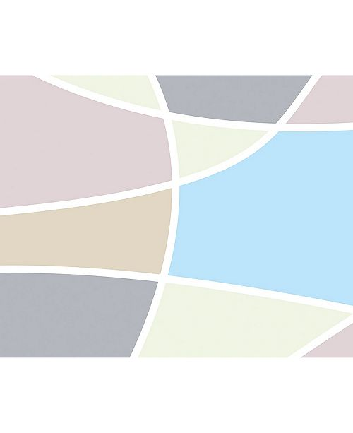 ohpopsi Abstract Pastel Shapes Wall Mural