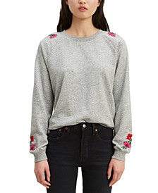 Women's Floral-Embroidered Sweatshirt