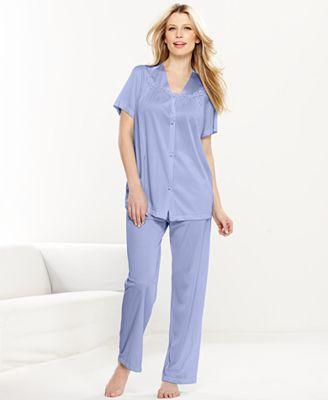 Vanity Fair Short Sleeve Top and Pajama Pants Set 90107 - Lingerie ...