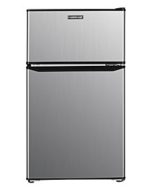 Classic 3.1-Cu. Ft. Compact Refrigerator, Double Door