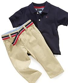 Chester Khaki Pants and Polo Shirt, Baby Boys