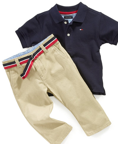 Tommy Hilfiger Chester Khaki Pants And Polo Shirt Baby