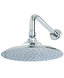 Victorian 8-Inch OD Brass Shower Head with 12-Inch Shower Arm in Polished Chrome