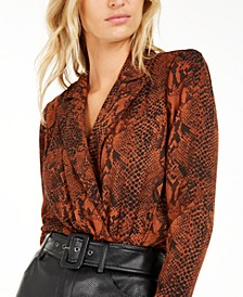 Becca Tilley x Animal Print Bodysuit, Created For Macy's