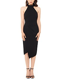 Asymmetrical-Hem Bodycon Dress
