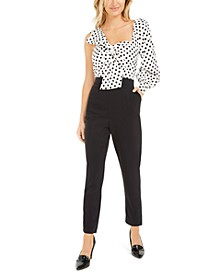 Becca Tilley x One-Shoulder Twist-Front Jumpsuit, Created for Macy's